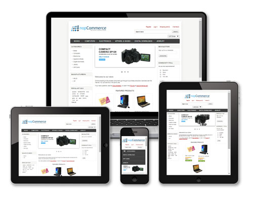 nopCommerce responsive ecommerce application