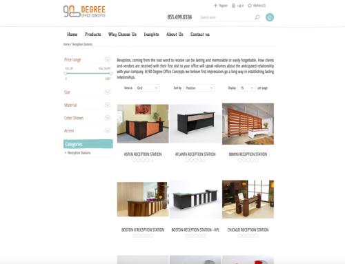 90 Degree Office Furniture – NopCommerce Site