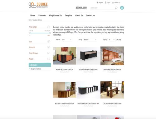 90 Degree Office Furniture – NopCommerce Site